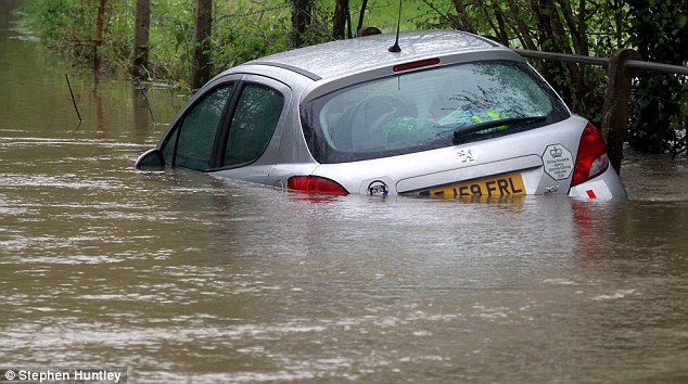Forecast: The dismal weather follows weeks of heavy rain which has caused flooding in many areas.