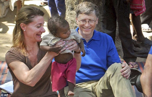 Microsoft founder Bill Gates and wife Melinda: Since they founded the Gates Foundation 12 years ago, it has become the world's largest philanthropic organization and is now worth $34billion