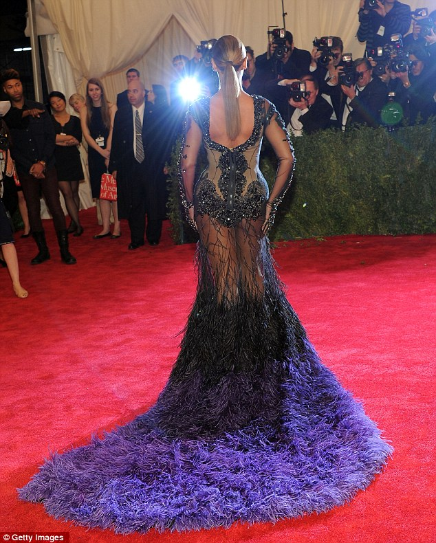 Centre of attention: All eyes were on Beyonce for her daring experimental number