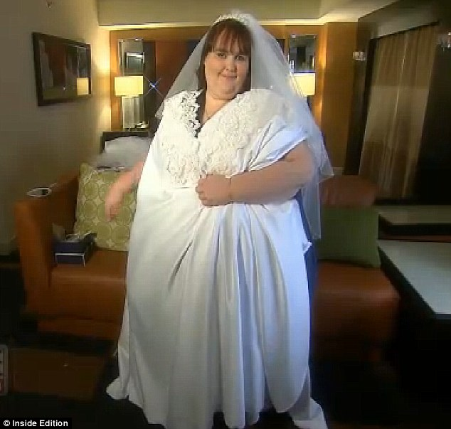 Larger than life: Susanne Eman, the 800lb mother who is half way to reaching the record for being the fattest woman has been fitted for her wedding gown ahead of her nuptials to chef Parker Clack