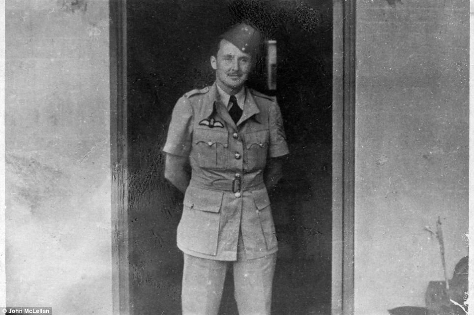 Poignant: Flight Sergeant Denis Copping in his RAF uniform aged 24, just days before he went missing