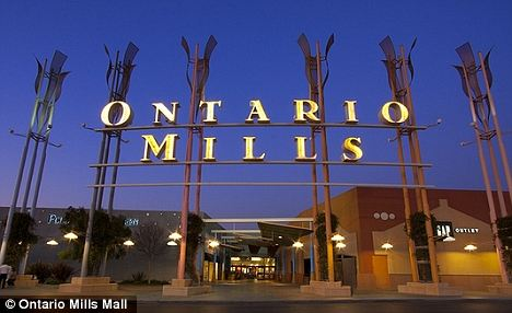 Scene: Orban allegedly forced the woman into her car by gunpoint when she left her shift at California's Ontario Mills Mall in broad daylight