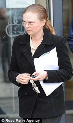 Rachel Hewitt outside court today in Hull. She pleaded guilty to fraud after conning fellow police officers