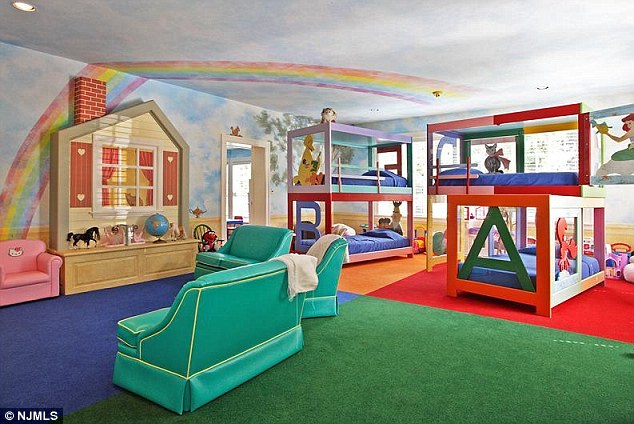 Family home: The mansion has a fully-outfitted child's play gym