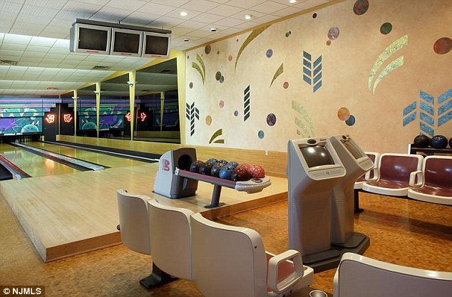 Built for fun: It also features a bowling alley and a raquetball court