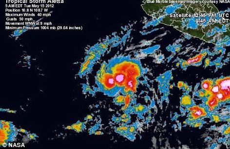 Aletta formed far out in the Pacific Ocean