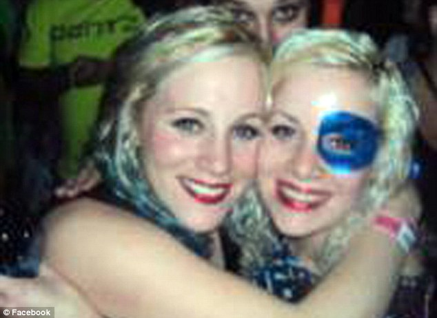 Fun-loving: Mickey Shunick (pictured right) turned 22 last night and had also missed her brother's graduation on Saturday