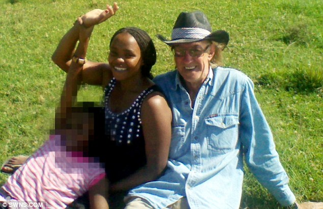 Happy: Mr Reeves is so besotted with Miss Wanja he has already moved her out of the slum she was living in to a luxury flat in Kenya