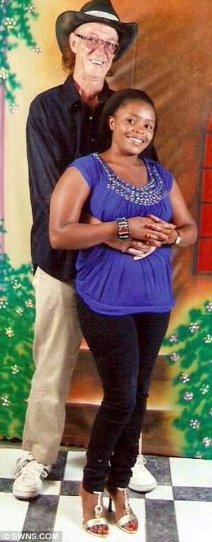 Looks familiar: Tim Reeves, 58, with his Kenyan bride-to-be Maryanne Wanja, 26