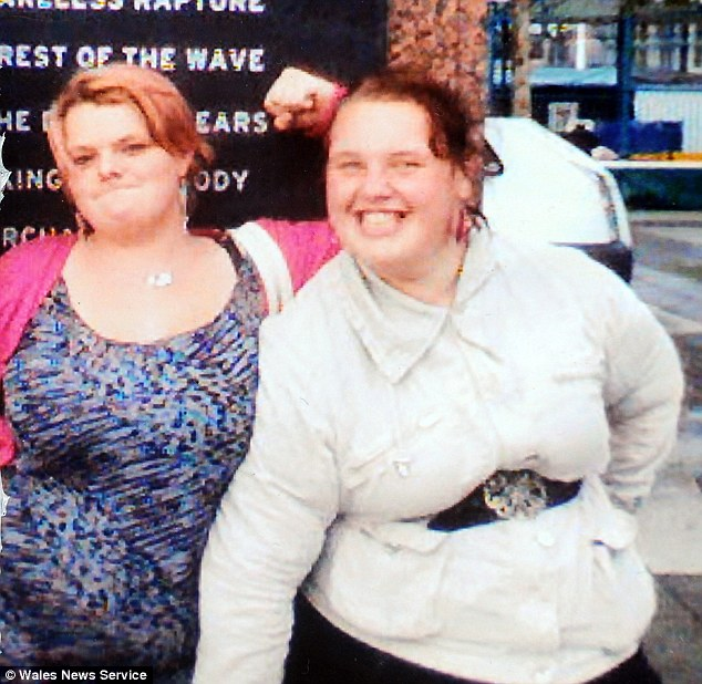 Friends: Jade Tarrant (left) lived with Georgia Davis (right), but Miss Davis put on weight again after moving back in with her parents