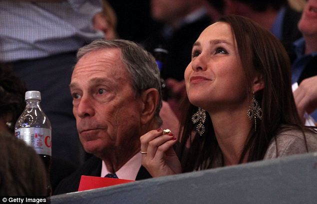 Think Before You Drink: Mayor Michael Bloomberg, pictured with his daughter Georgina, right, and a Diet Coke, left