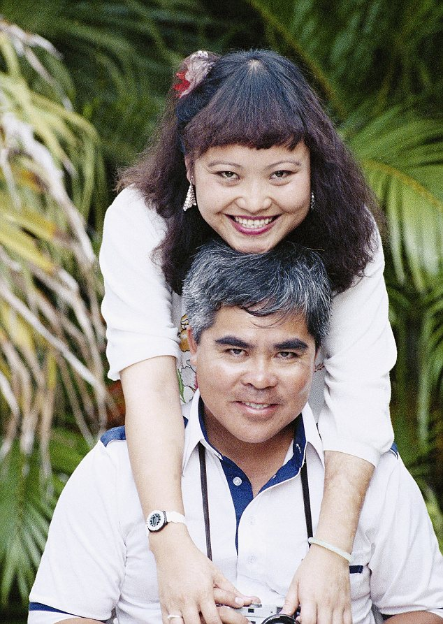 Phan Thi Kim Phuc embraces Associated Press staff photographer Nick Ut during a reunion in Cuba in 1989