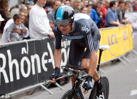 Runner up: Bradley Wiggins during the prologue of the Dauphine cycling race