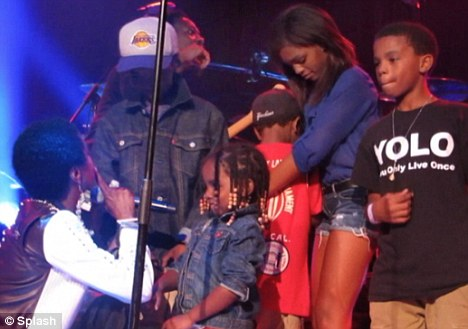 It's ok: His supportive siblings rallied to support him and his eldest singer Selah gave him a hug