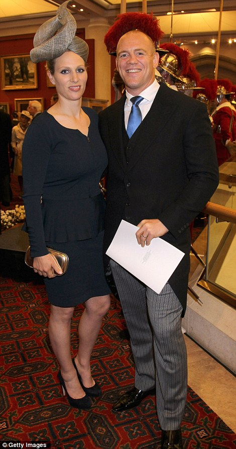 Mike Tindall and Zara Philips attend a reception in The Queen's honour