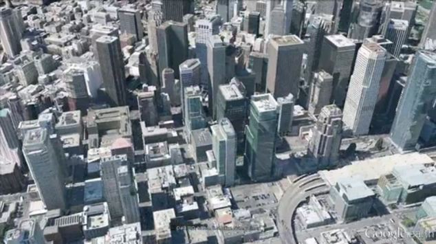 Privacy concerns: Google now has camera planes which have taken images like this of San Francisco