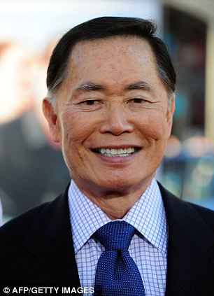 Been there: Star Trek actor George Takei was one of the 110,000 Japanese Americans who was sent to an internment camp with his family