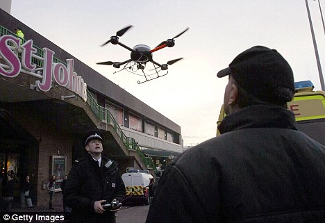 Police in Liverpool, UK, have been using a remote-controlled drone fitted with a TV camera to help combat potential anti-social behavior