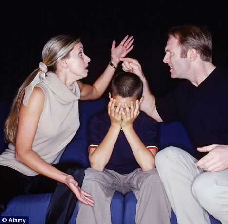 Argument: One in five children from a broken home loses touch with the parent that leaves the family home within just three years. (Picture posed by models)