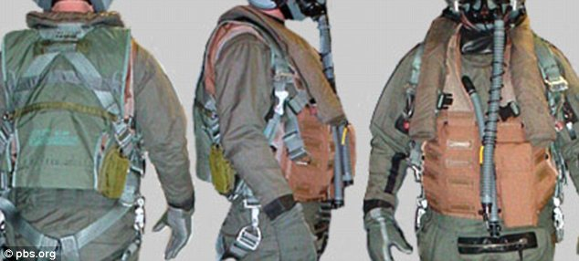 Not fully vested: The Air Force has advised its pilots to stop wearing pressure vests in the military's bid to combat oxygen-deprivation problems on the Raptor
