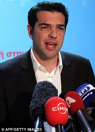Alexis Tsipras, head of Greece's Syriza party, the second-largest after the May 6, 2012 election