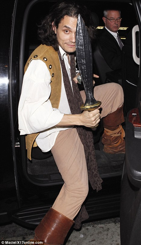 John Mayer Dons Pirate Costume For A Hearty Night Out In