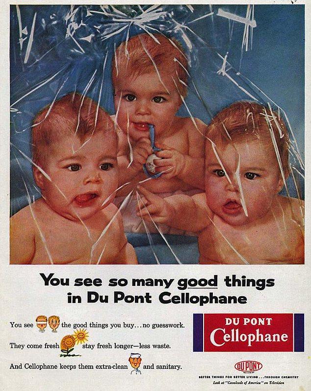 Esto se está convirtiendo en un patrón: DuPont claramente pensó atraería a los bebés a su público objetivo ama de casa