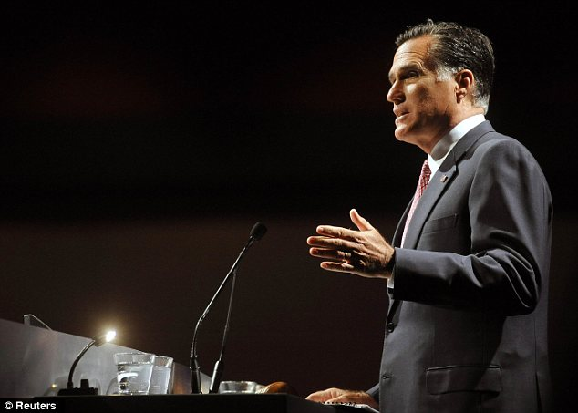 Opponent: Mitt Romney will take heart from Mr Obama's struggle to hold on to his support