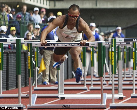 Mistake: Bryan Clay stumbled in the hurdles at the trials on Saturday