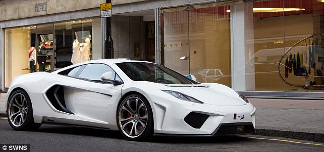 A Qatar-registered modified McLaren MP4-12C on the streets of London, it is worth around £200,000