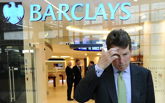 Exit door: Bob Diamond has quit Barclays after days of pressure following revelations that Barclays traders conspired to falsify Libor submission.