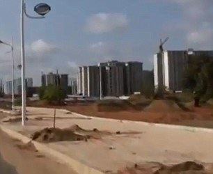 Empty: It was supposed to be a state-of-the-art city for 500,000 - but eery footage shows how a Chinese-built urbanisation is at risk of becoming Africa's first 'ghost town'