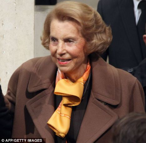 Heiress: Liliane Bettencourt is the richest woman in Europe. She inherited cosmetics company L'Oreal when her father Eugene Shueller died in 1957