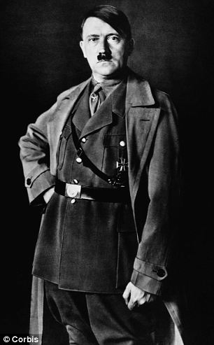 Hitler pictured in 1934. He remembered his time in the army fondly and was proud of his service in the war