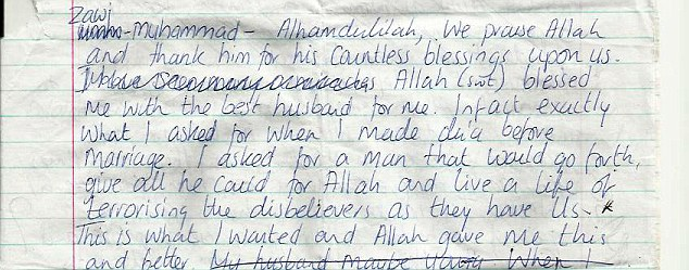 Convert: Samantha Lewthwaite's dedication to Allah cannot be doubted from these documents