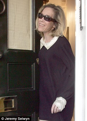 Tragic: Eva Rausing, pictured after she was arrested for drug possessionin 2008, was found dead by police officers