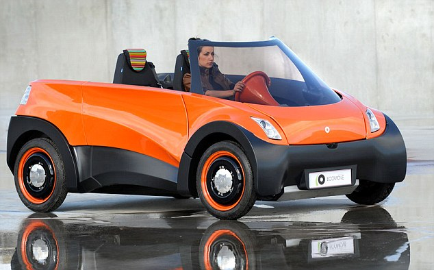 Going the distance: The QBEAK electric car which promises to go 500 miles before the battery needs recharging