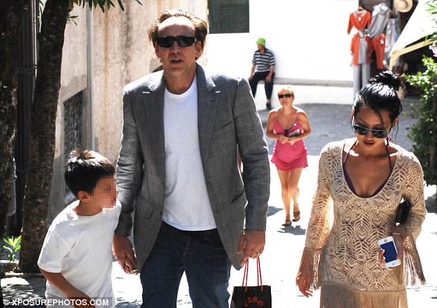 Nicolas Cage Enjoys Luxury Holiday With His Wife And Son