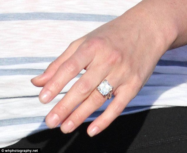 Lindsay Price Flashes HUGE Diamond Ring After Getting