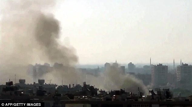 Violence: The Syrian Observatory for Human Rights reported heavy attacks by government forces in neighbourhoods in Damascus which had once been held by rebels