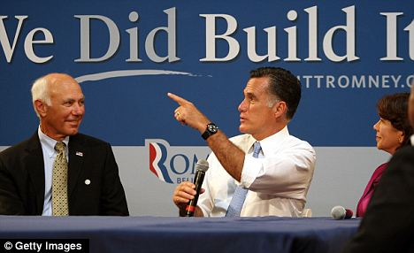 More Money in the bank: Mitt Romney hosts a small business roundtable in Costa Mesa, California