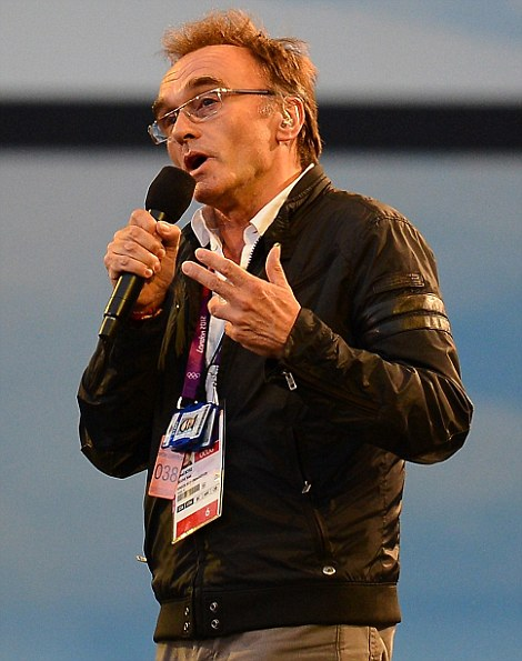 Danny Boyle the London 2012 Artistic Director addresses the audience during the Opening Ceremony