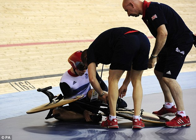Fortunately for Team GB a restart was ordered, and trio stormed to a new world record
