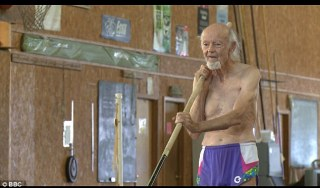 Impressive: At 90 years old, Dr William Bell is the current world record holder for his age group in pole vaulting