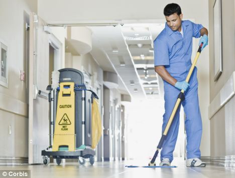 Cleaning: Bacteria found in hospitals can survive on surfaces for long periods of time