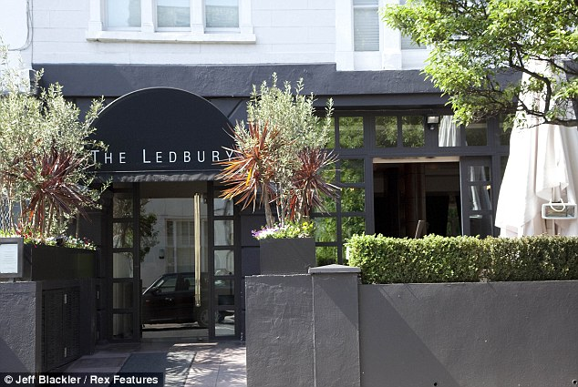 Targeted: Diners at The Ledbury in Notting Hill were robbed at knifepoint