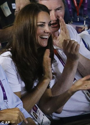 Royal approval: The Duchess of Cambridge watched the bout
