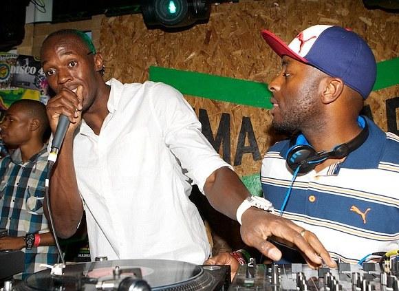DJ DJ: Usain Bolt and Manny Norte at The Puma Yard, Brick Lane