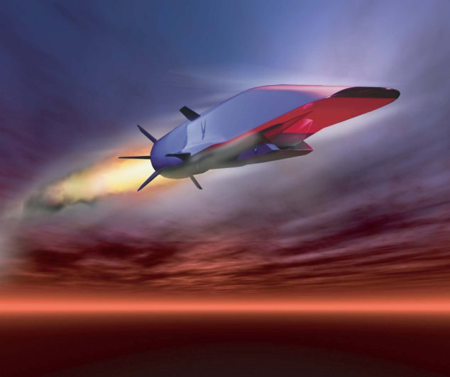 London to New York in Less than an hour: The X-51A Waverider is designed to ride on its own shockwave, accelerating to about Mach 6