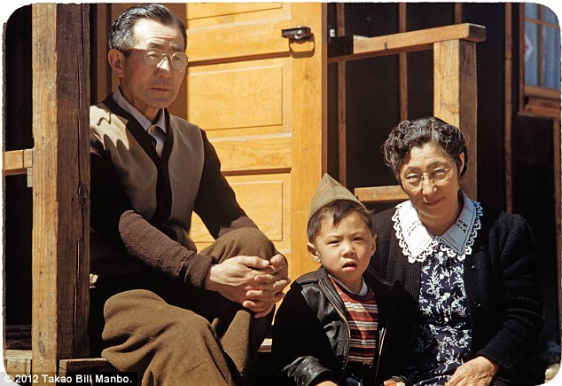 Billy Manbo with his maternal grandparents, Junzo (left) and Ryo Itaya. Photo by Bill Manbo